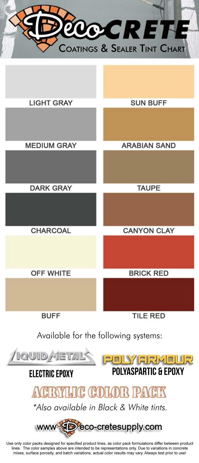 Color Charts | Deco-Crete Supply