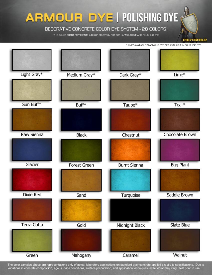 Manufacturer color charts deco crete supply kolour dye color chart nvjuhfo Images