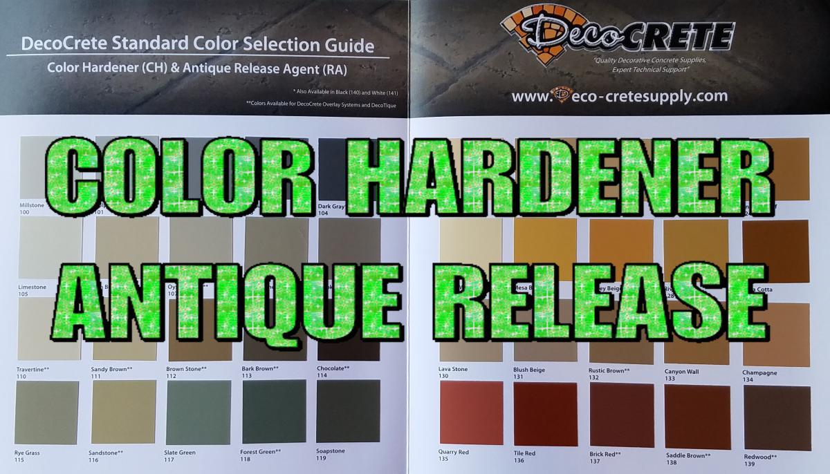 Manufacturer Color Charts | Deco-Crete Supply
