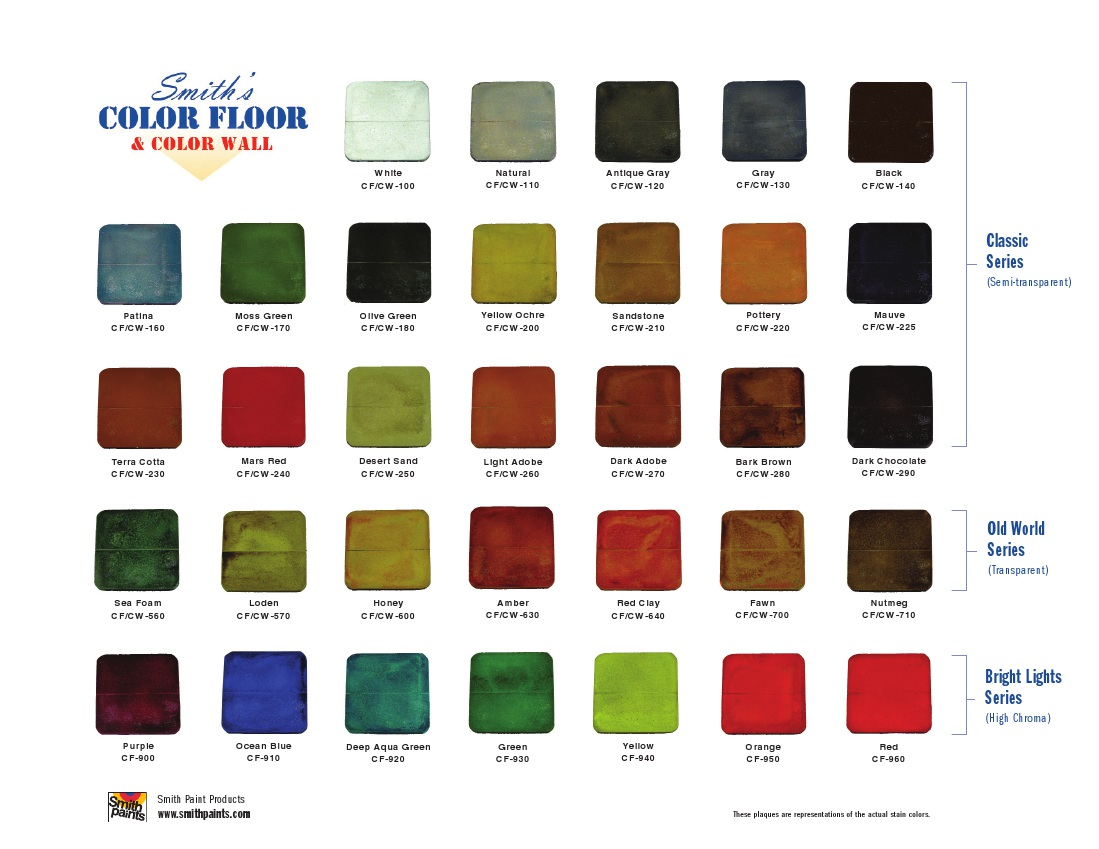 Stained concrete deco crete supply color chart click here nvjuhfo Image collections