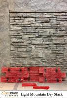 Stone Edge Surfaces Light Mountain Dry Stack Vertical Concrete Stamps