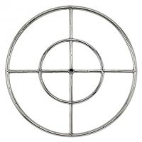 "American Fireglass 24"" Double Fire Ring"