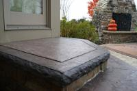 Use the Denali Hammered Edge Liner for decorative steps