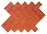 Proline Concrete Stamps Herringbone Used Brick