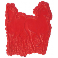 Proline Concrete Stamps Double Horse Sculpted Accent Stamp