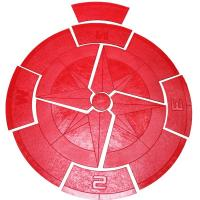 Proline Stamps MD7602 6' Compass Medallion