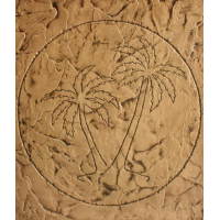 Proline Palm Trees in Circle Seamless Design