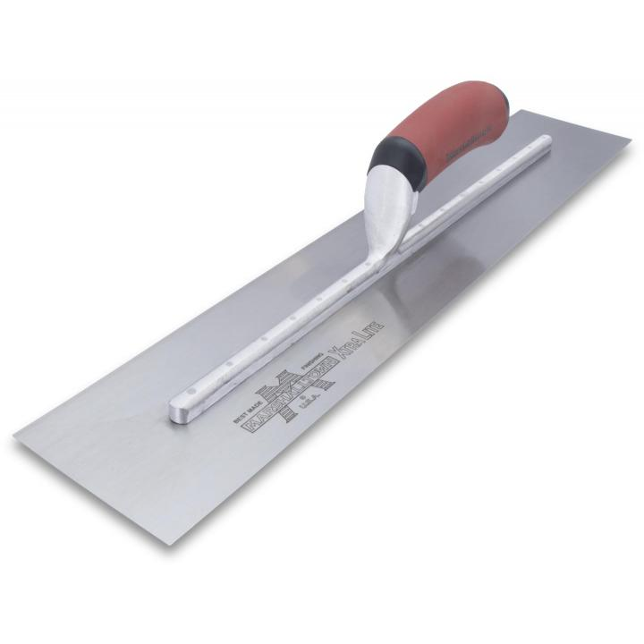 "Marshalltown 13273 20"" x 4"" Finishing Trowel with Curved DuraSoft Handle"
