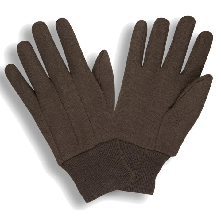 Brown Medium Weight Jersey Gloves