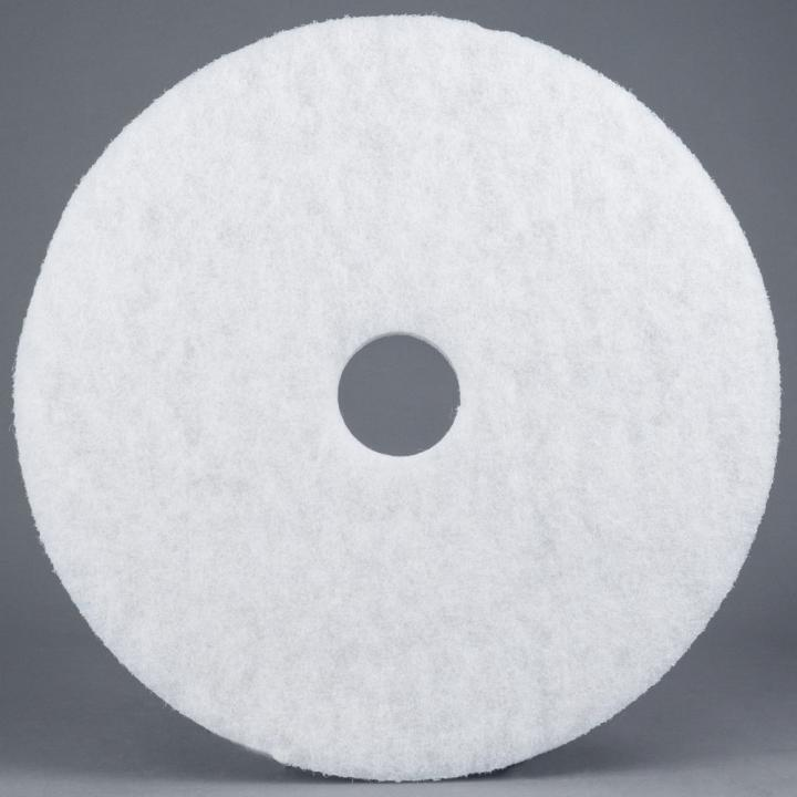 "17"" White Super Polishing Floor Pad"