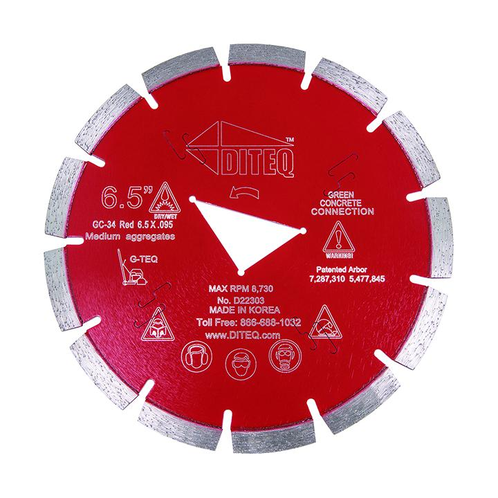 Diteq G-TEQ Green Concrete Blade - Red