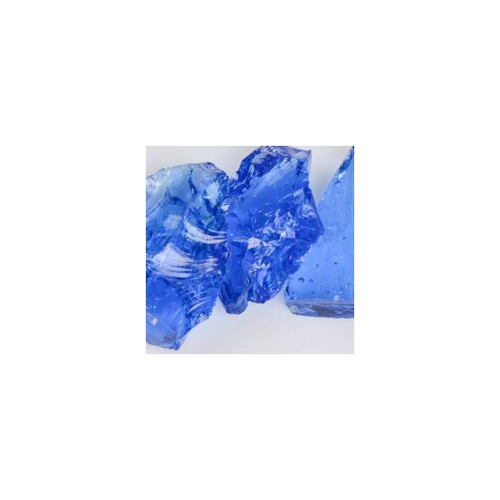 Crystal Blue Landscape Glass - Large