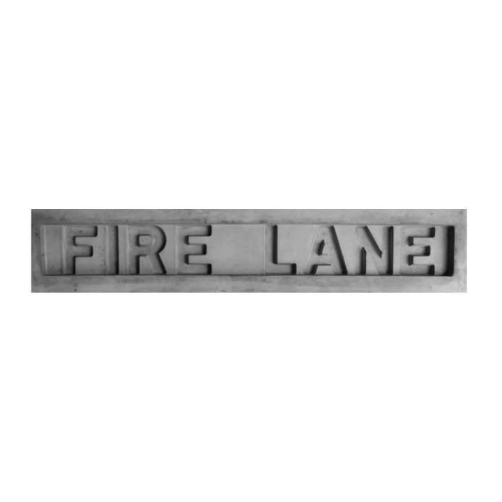 Proline Concrete Stamps Fire Lane Stamp