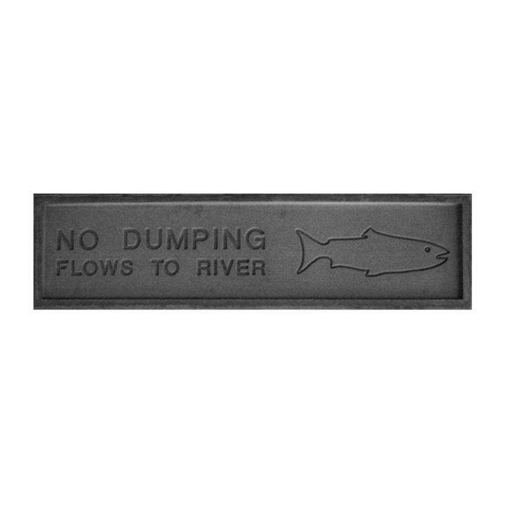 Proline Concrete Stamps No Dumping Warning Stamp