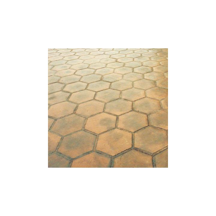 "Matcrete 12"" Grouted Hexagon Tile"
